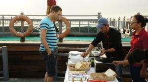 Frühstück auf der Mekong Eyes
