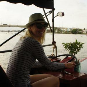 Am Weg zum Floating Market von Cai Be