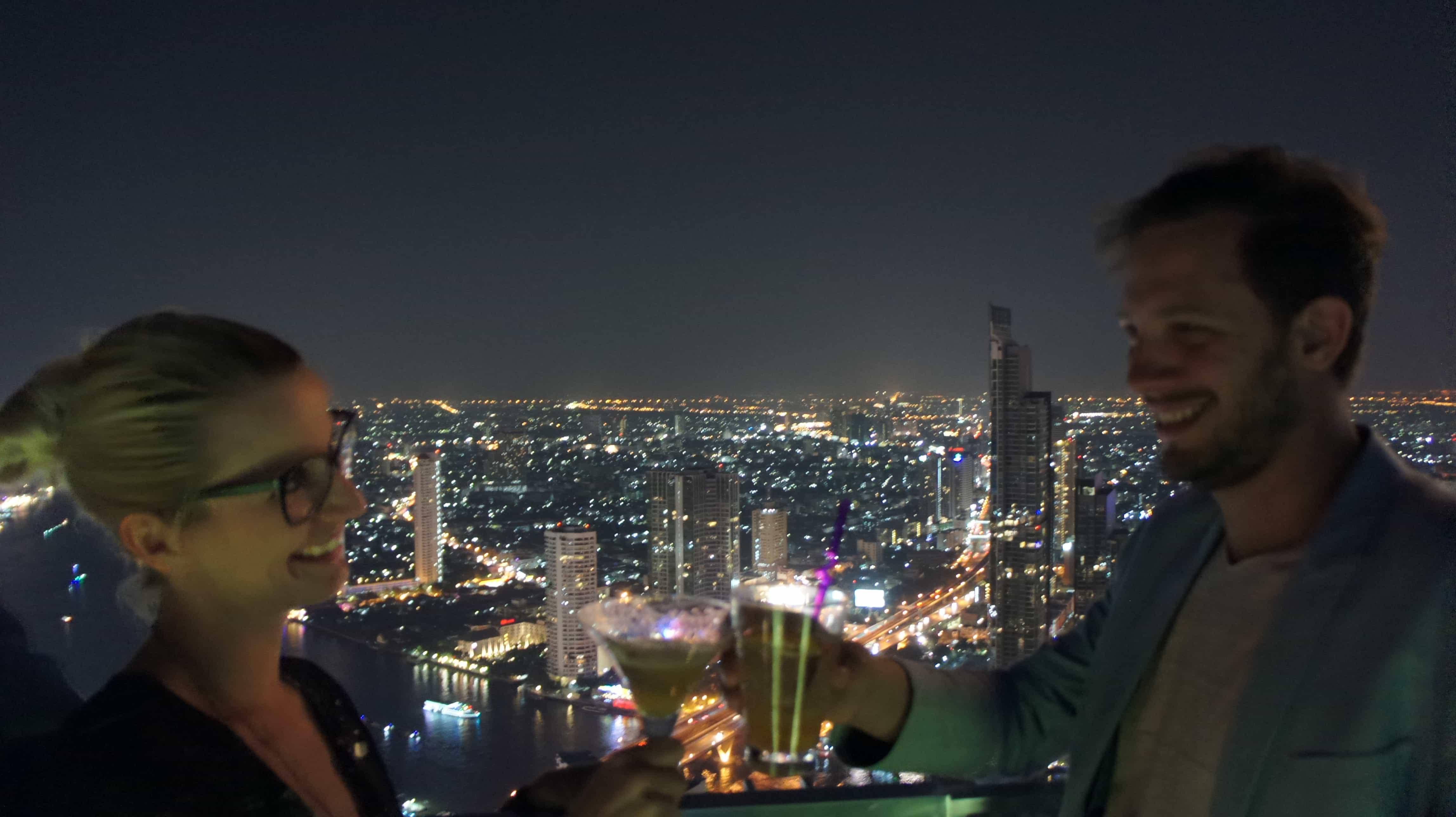 Über den Dächern Bangkoks - immer ein Vergnügen, aber nicht zu Silvester :)
