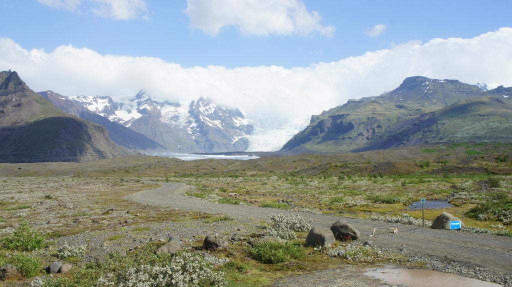Bilck auf den Gletscher Vatnajökull
