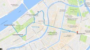 Karte St. Petersburg