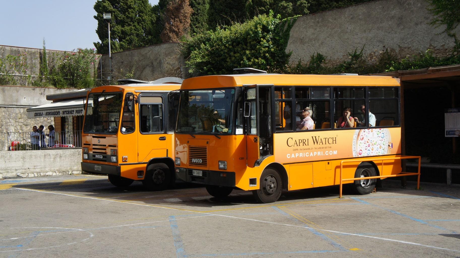 Busse auf Capri